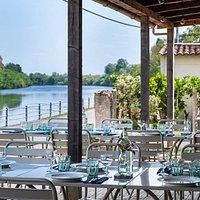 Riverside terrace overlooking the Dordogne © www.markboltonphotography.co.uk