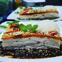 15hour roasted Pork belly with crackling, vietnam 5 spices, lemongrass, shallot