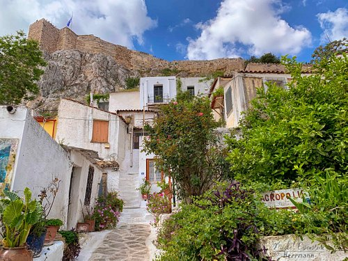 Anafiotika is a hidden wonder inside Athens scenic tiny neighborhood.  A must see
