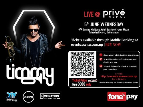 DanceMandu & Privé Nepal proudly presents Timmy Trumpet – DJ, producer and live instrumentalist – is undoubtedly one of the most unique performers currently ranked world No 33 in the DJ Mag Top 100. An award-winning, multi-platinum selling recording artist is all set to wreck your nerves.  After winning hearts of numerous fans all over the world he will be performing live at Privé Nepal on 5th of June.It's going be one of the most bewildering night with #TeamTrumpet #TimmyTrumpetinNepal