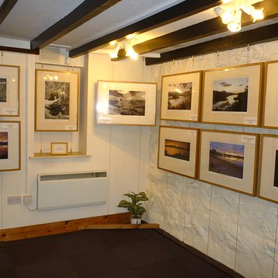 Photograph gallery down the stairs