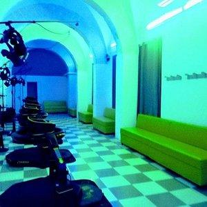 La sala giochi con i suoi colori