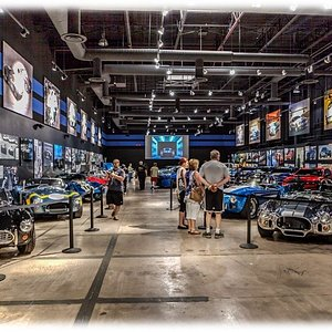 Walk through the life, story, and actual collection of cars as you tour the expansive Shelby American Heritage Center.