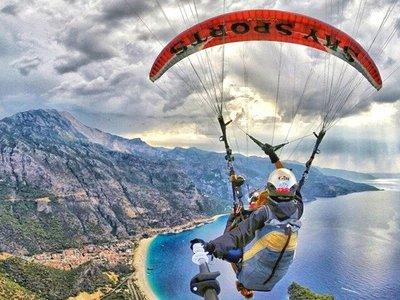 Прыжок с парашютом- PARAGLIDING в Алании