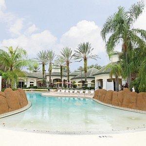Beautiful beach style walk in swimming pool