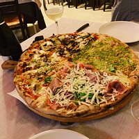 The special four taste pizza for two.