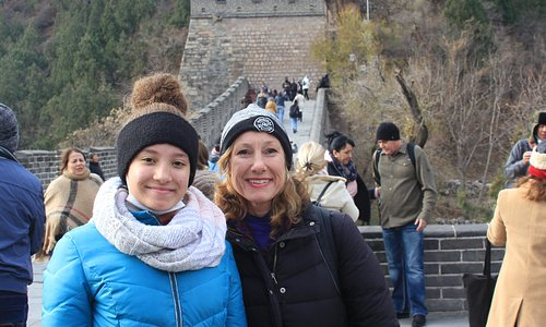 My daughter and I at the Great Wall. An experience of a lifetime