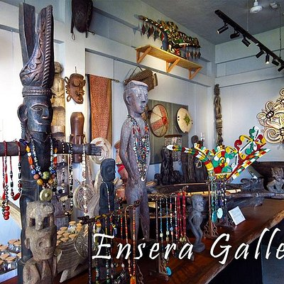 Inside of the Ensera Gallery filled with wonders
