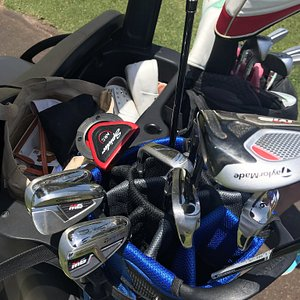 Great Clubs and great service from Peter. Clubs delivered within half a day to the hotel. My clubs were brand new and my wife had the same clubs she has at home.  We left the clubs at the golf club at the end of the week as Peter would collect them from there.  Great service and I would recommend it to any golfer. Why drag clubs from the UK when you have a company like this.