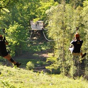 Fast tandem Zipline at Multilevel.se