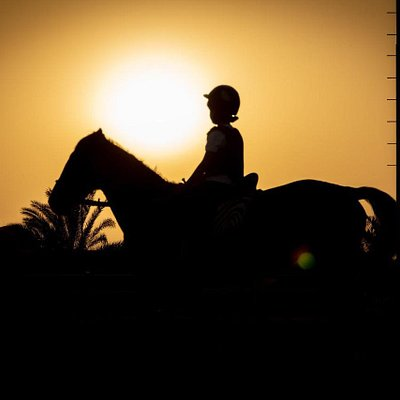 Riding into the sunset!