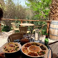 Mediterranean platter and Greek Salad