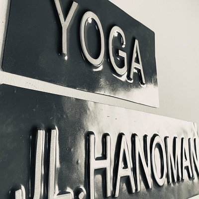 Sign at Yoga by Ohm