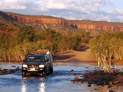 Crossing the Pentecoast River, Cockburn Ranges, the Kimberley