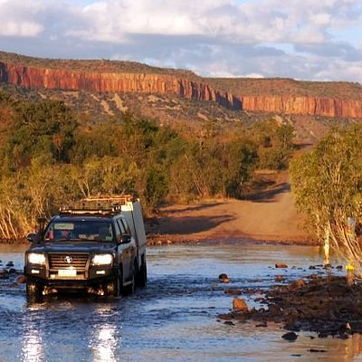 Crossing the Pentecoast River, Cockburn Ranges, the Kimberley