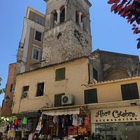 Shops around the back of Annunziata Tower.