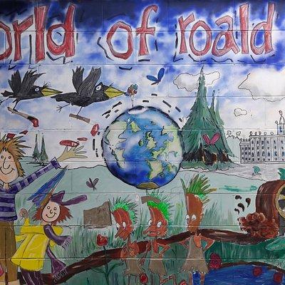 Roald Dahl Mural.