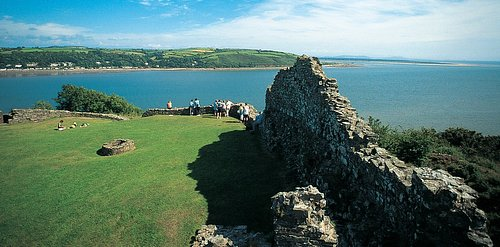 Llansteffan Castle Commands some of the the most spectacular views in Wales