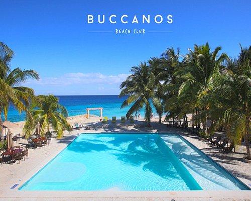 seafood beach club with incredible pool