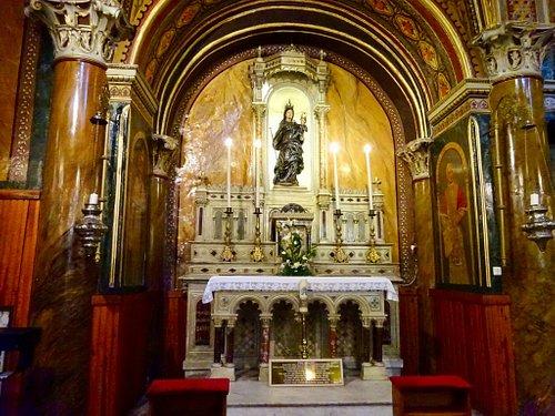 Church of St. Polycarp - notice the black-clothed Madonna