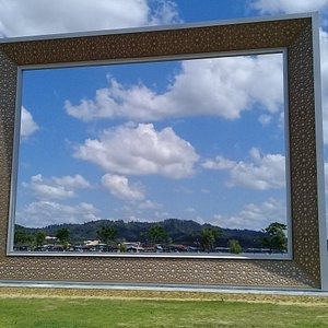 The Big Frame located in the park near the great mosque