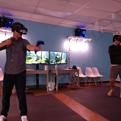 Nothing better than defeating ogres and dragons in VR with your friends!
