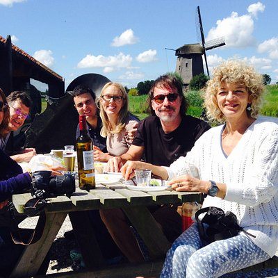 Picnic time at the windmill.