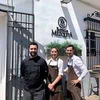 Compañeros de BM Cruz del Rastro: Rafa Conde, Ana Navas y Antonio Valle.