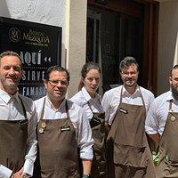 Compañeros de sala de BM Céspedes: Carmelo, Josemi, Susana, David y Alberto.