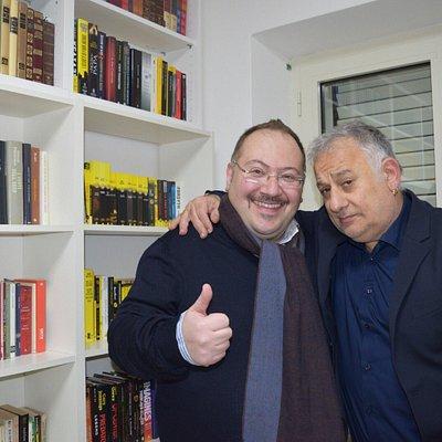 Il maestro Marco Zurzolo e il grande Maurizio De Giovanni alla Biblioteca Sociale!