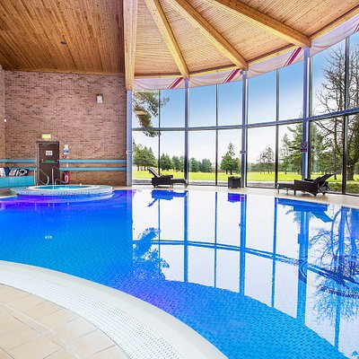 Our swimming pool overlooks the 9th green.