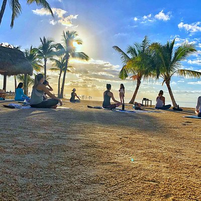Yoga on the beach at Cheeca Lodge Resort & Spa