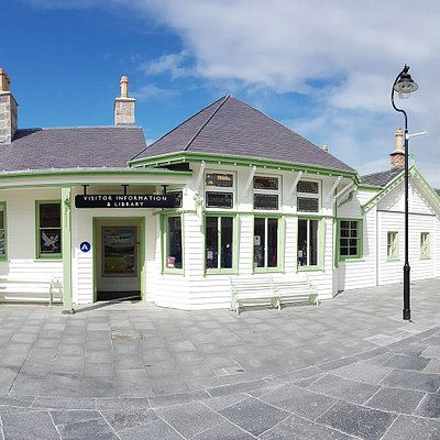 Ballater Library is located in the recently restored Old Royal Station.