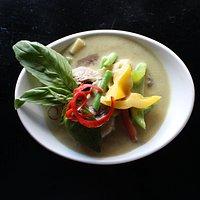 Deliciously creamy Siam Thai Green Curry.