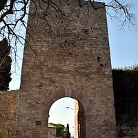 Porta Cappuccini exterior, looking towards the city