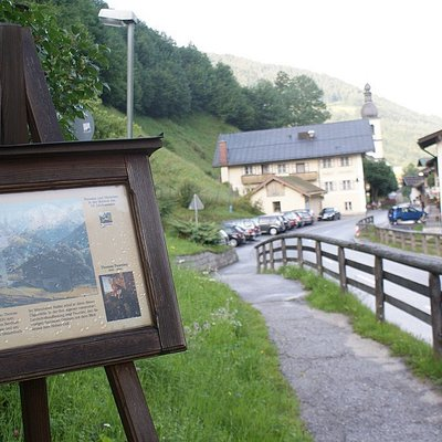 One of the displays in Ramsau village along the Painters' Circular Trail.