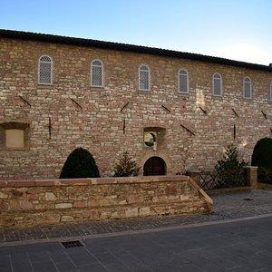 The facade of the monastery