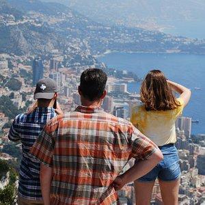 view overlooking Monaco