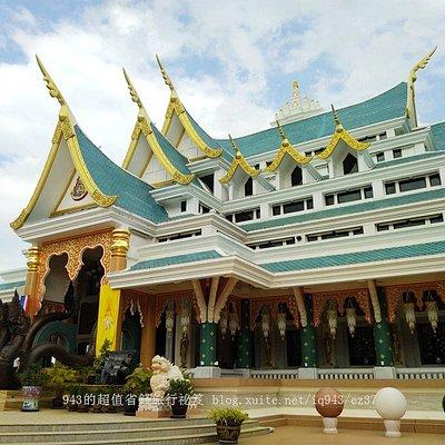 Wat Pa Phu Kon, Udon Thani, Thailand. 藍色臥佛寺