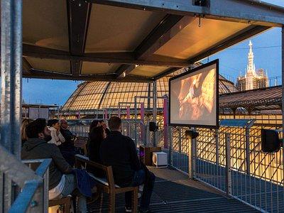Cinema Bianchini sui tetti della Galleria Vittorio Emanuele