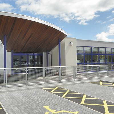 Westhill Library is located next to the primary school.