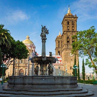 Catedral Basilica de Puebla from Zocalo