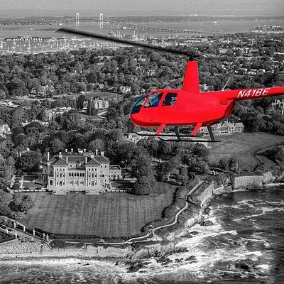 Look at that red chopper! You've most likely seen this flying around Newport!