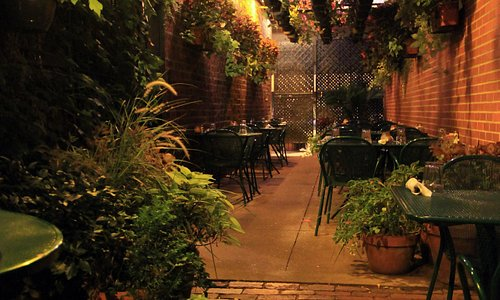 Part of our outdoor courtyard.