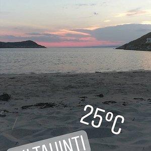 """Auringon """"lasku"""" ilta-aikaan. (heinä-elokuu 2018)"""
