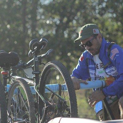 Detalhe de uma das saídas do Veadeiros Bike Tour