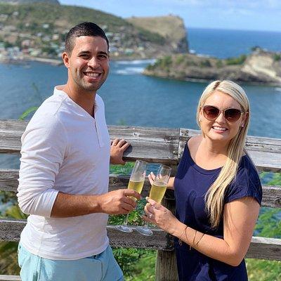 Celebrating their honeymoon