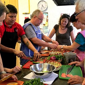 This photo was taken during one of our cooking classes