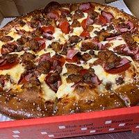 Meat Lovers Pretzel Crust Pizza