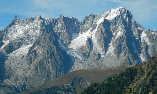 Monte Bianco fotografato dal belvedere di Arpy